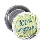 100% Organic Button