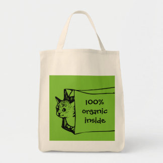 100% Organic Cat in a Bag Shopping Bag