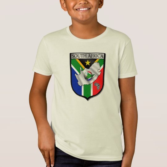 100% Organic cotton South Africa soccer t-shirt