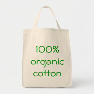 100% organic cotton grocery tote bag