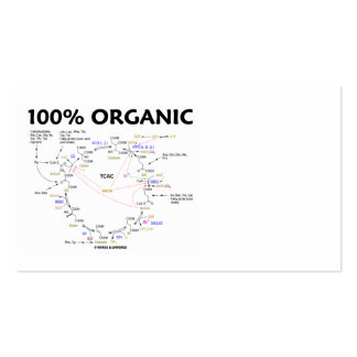100% Organic (Krebs Cycle - Citric Acid Cycle) Pack Of Standard Business Cards