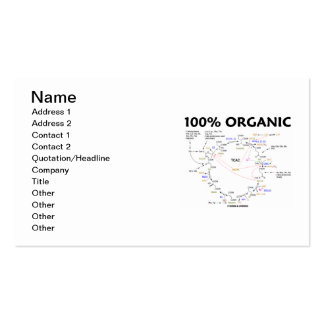 100% Organic (Krebs Cycle Humour) Pack Of Standard Business Cards