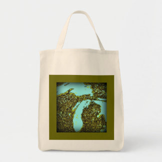 100% Organic Michigan Shopping Bag