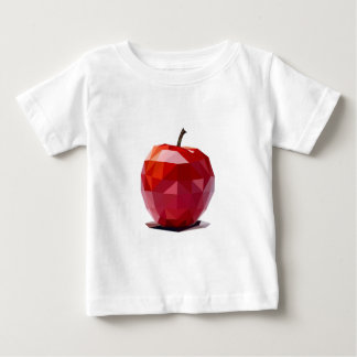 100% Organic Red Apple Abstract Design Baby T-Shirt