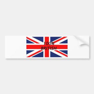 100 per cent British Bumper Sticker