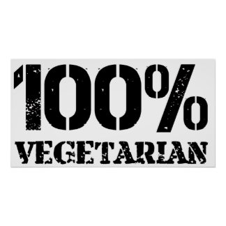 100 Per Cent Vegetarian Poster