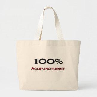 100 Percent Acupuncturist Tote Bag