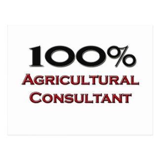 100 Percent Agricultural Consultant Postcard
