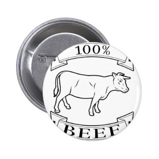100 percent beef label buttons