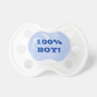 100 Percent Boy All Male Blue For Baby Boy Baby Pacifiers