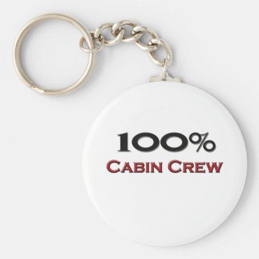 100 Percent Cabin Crew Key Chain