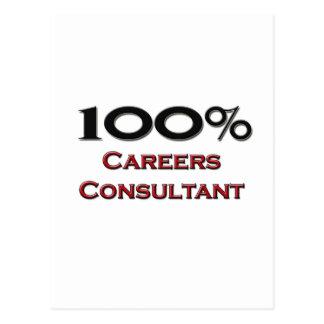 100 Percent Careers Consultant Postcard