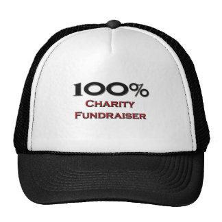 100 Percent Charity Fundraiser Mesh Hat