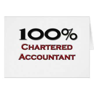 100 Percent Chartered Accountant Greeting Cards