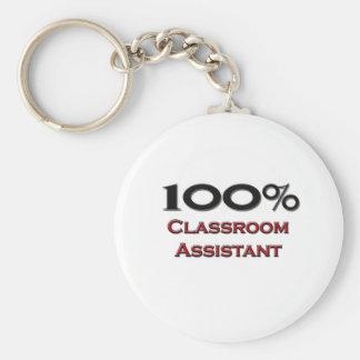 100 Percent Classroom Assistant Key Ring