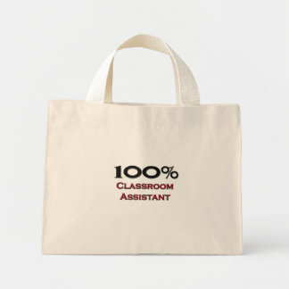 100 Percent Classroom Assistant Mini Tote Bag
