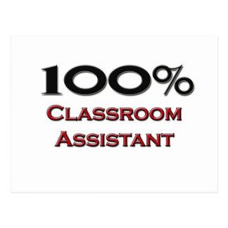 100 Percent Classroom Assistant Post Card