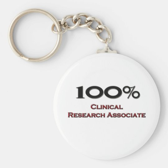 100 Percent Clinical Research Associate Key Ring