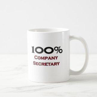 100 Percent Company Secretary Basic White Mug
