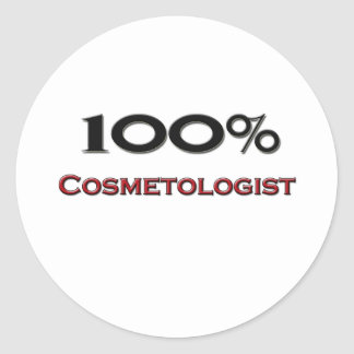 100 Percent Cosmetologist Round Sticker
