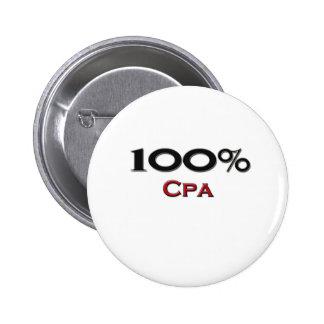 100 Percent Cpa 6 Cm Round Badge