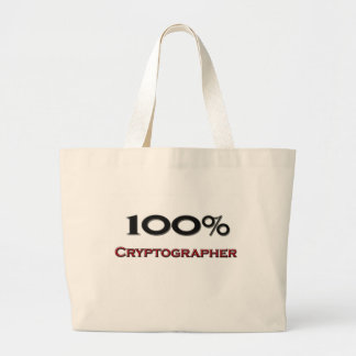 100 Percent Cryptographer Canvas Bags