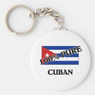 100 Percent CUBAN Basic Round Button Key Ring