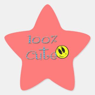 100 Percent Cute Sticker