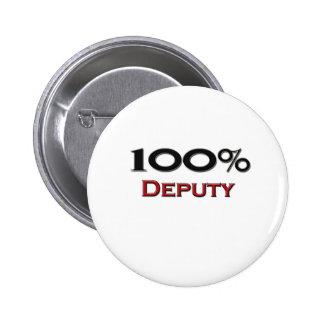 100 Percent Deputy 6 Cm Round Badge