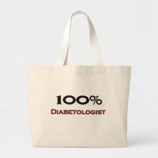 100 Percent Diabetologist Tote Bags