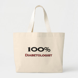 100 Percent Diabetologist Jumbo Tote Bag