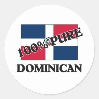 100 Percent DOMINICAN Round Sticker