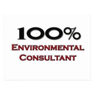 100 Percent Environmental Consultant Postcard