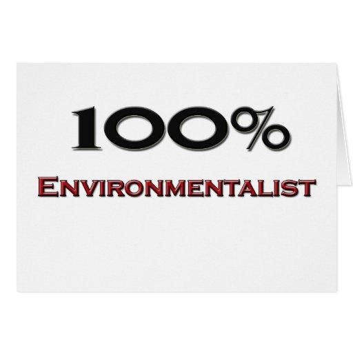 100 Percent Environmentalist Greeting Cards