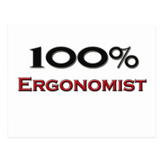 100 Percent Ergonomist Postcard