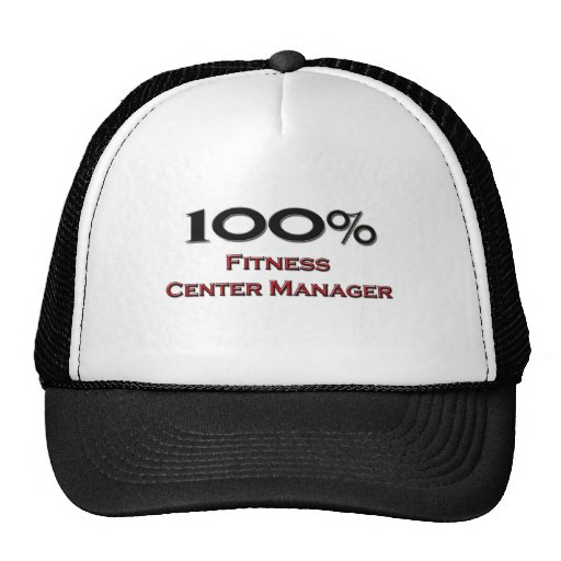 100 Percent Fitness Center Manager Trucker Hats