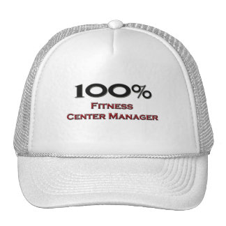 100 Percent Fitness Center Manager Hats