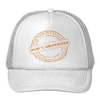 100 percent ghanaian orange cap