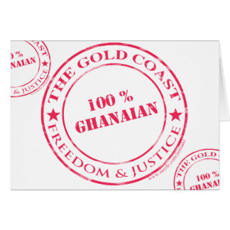 100 percent ghanaian red greeting card