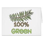 100 Percent Green Tshirts and Gifts Greeting Card
