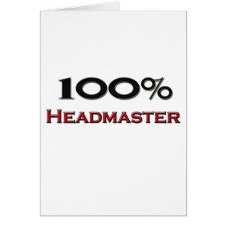 100 Percent Headmaster Greeting Card