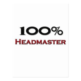 100 Percent Headmaster Post Card
