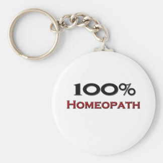 100 Percent Homeopath Basic Round Button Key Ring