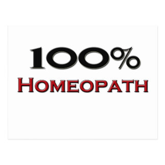 100 Percent Homeopath Post Card