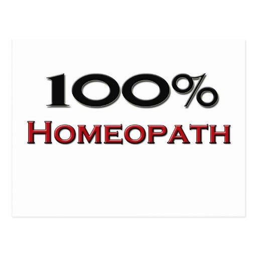 100 Percent Homeopath Post Card