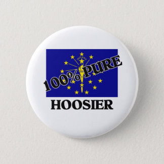 100 Percent Hoosier 6 Cm Round Badge