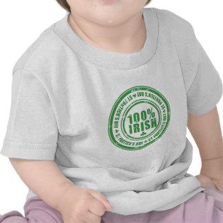 100 percent irish stamp St Patrick's Day T-shirt