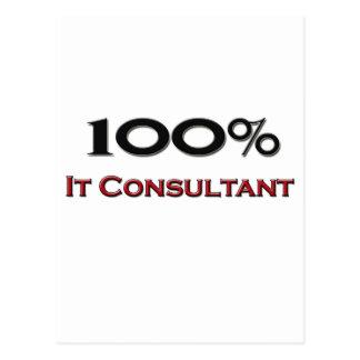 100 Percent It Consultant Postcard