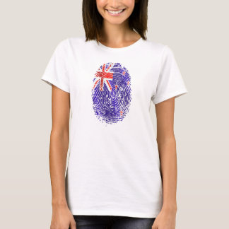 100 percent Kiwi DNA New Zealand flag fingerprint T-Shirt