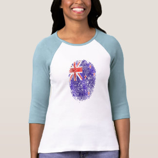 100 percent Kiwi DNA New Zealand flag fingerprint Tee Shirts